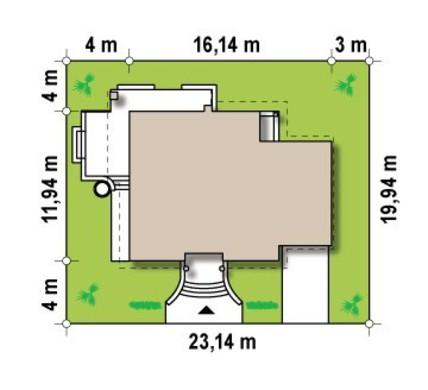 Проект класичного будинку з мансардою і балконом