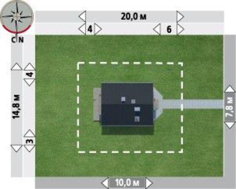 Готовий проект просторого котеджу дачного типу з мансардою