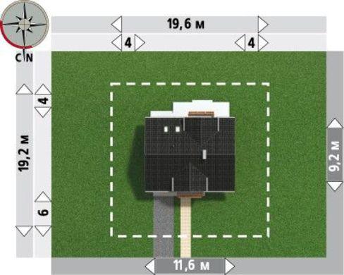 Чудовий проект котеджу 180 m² з мансардою та гаражем на одну машину