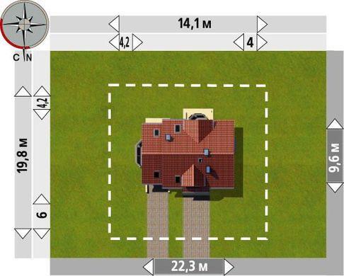 Цікавий проект 1,5-поверхового невеликого особняка з частково цегляним фасадом