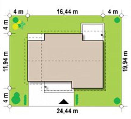 Проект 1,5 поверхового будинку з мансардою